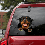 Rottweiler Crack Car Sticker 09