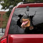 Rottweiler Crack Car Sticker 11