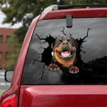 Rottweiler Crack Car Sticker 12