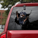 Rottweiler Crack Car Sticker 14
