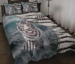 Tiger In Jungle Quilt Bed Set