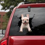 French Bulldog Crack Car Sticker 02