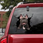 French Bulldog Crack Car Sticker 03