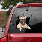 French Bulldog Crack Car Sticker 07