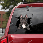 French Bulldog Crack Car Sticker 08