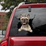 French Bulldog Crack Car Sticker 09