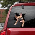 French Bulldog Crack Car Sticker 13