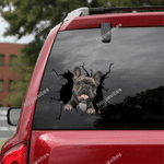 French Bulldog Crack Car Sticker 14