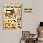 Personalized Sewing Room Enjoy Life Classic Metal Signs