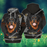 Love Rottweiler 3D All Over Printed Shirts