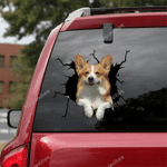 Corgi Crack Car Sticker 02