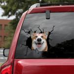 Corgi Crack Car Sticker 03