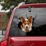 Corgi Crack Car Sticker 06