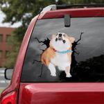 Corgi Crack Car Sticker 09