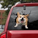 Corgi Crack Car Sticker 13