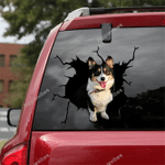 Corgi Crack Car Sticker 14