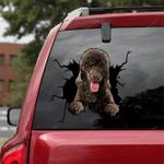 Poodle Crack Car Sticker 01