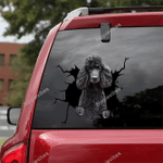 Poodle Crack Car Sticker 05