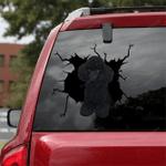 Poodle Crack Car Sticker 10