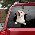 Labrador Retriever Crack Car Sticker 01