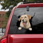 Labrador Retriever Crack Car Sticker 02