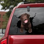 Labrador Retriever Crack Car Sticker 04