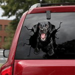 Labrador Retriever Crack Car Sticker 05