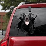 Labrador Retriever Crack Car Sticker 07