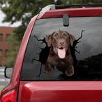 Labrador Retriever Crack Car Sticker 09