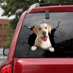 Labrador Retriever Crack Car Sticker 11