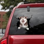 Siberian Husky Crack Car Sticker 07