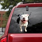 Pit bull Crack Car Sticker 02