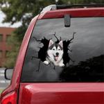 Siberian Husky Crack Car Sticker 10