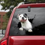 Pit bull Crack Car Sticker 05