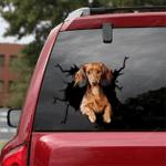 Dachshund Crack Car Sticker 04