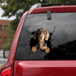 Dachshund Crack Car Sticker 06