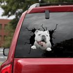 English Bulldog Crack Car Sticker 02
