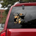Dachshund Crack Car Sticker 10