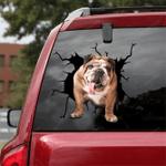 English Bulldog Crack Car Sticker 05