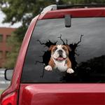 English Bulldog Crack Car Sticker 06