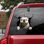 English Bulldog Crack Car Sticker 07