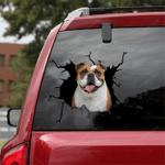 English Bulldog Crack Car Sticker 09