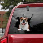 English Bulldog Crack Car Sticker 10