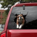 English Bulldog Crack Car Sticker 11