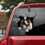 English Bulldog Crack Car Sticker 14
