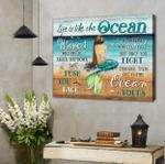 Beach Canvas Coastal Decor Mermaid Life Is Like The Ocean