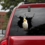 Parrot Crack Car Sticker 02