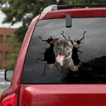 Bullmastiff Crack Car Sticker 02