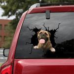 Bullmastiff Crack Car Sticker 03