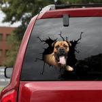 Bullmastiff Crack Car Sticker 04